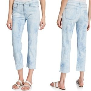 Frame Le High Cloud Tie-Dye Raw Hem Straight 30